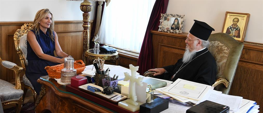 Η Μαρέβα Μητσοτάκη στο Οικουμενικό Πατριαρχείο (εικόνες)