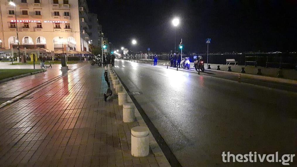 Θεσσαλονίκη - άδειοι δρόμοι - απαγόρευση κυκλοφορίας