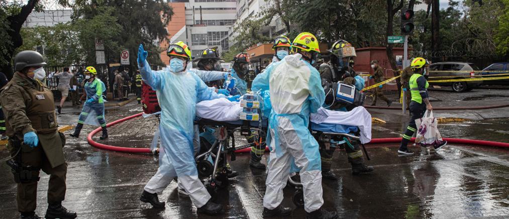 Εκκενώθηκε νοσοκομείο μετά από φωτιά (εικόνες)
