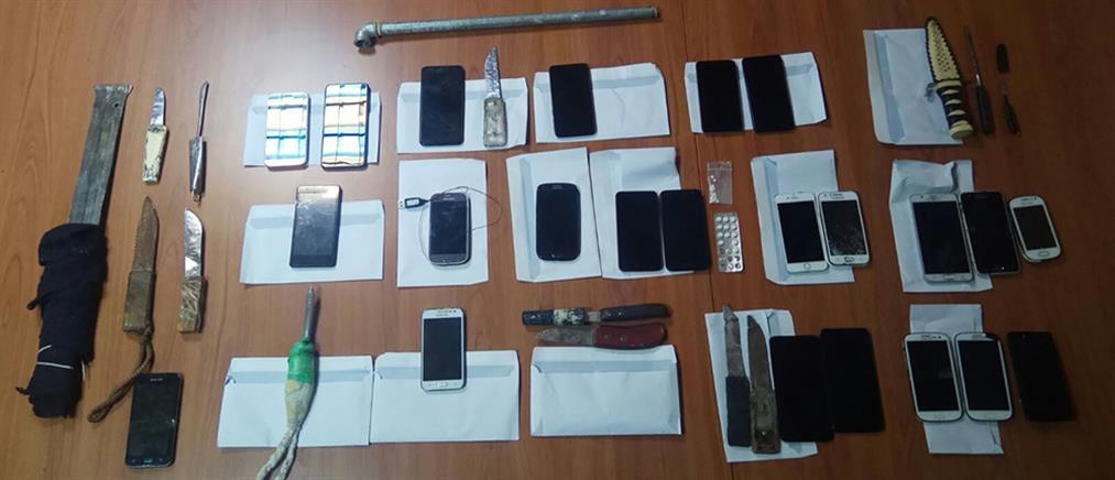 """Φυλακές Δομοκού: βρέθηκε """"οπλοστάσιο"""" με αυτοσχέδια μαχαίρια (εικόνες)"""