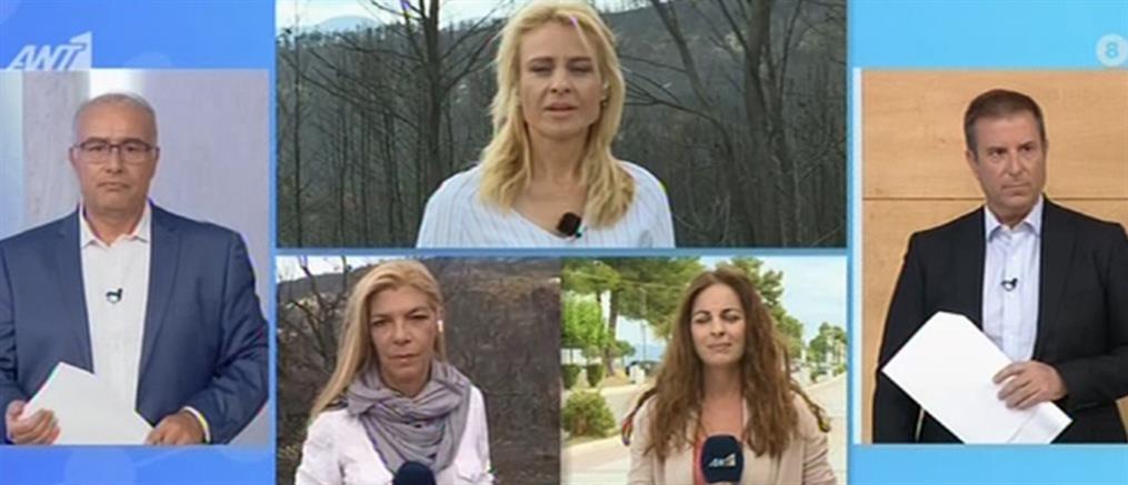 ΑΝΤ1: Το κεντρικό Δελτίο Ειδήσεων ζωντανά από την Εύβοια την Παρασκευή (βίντεο)