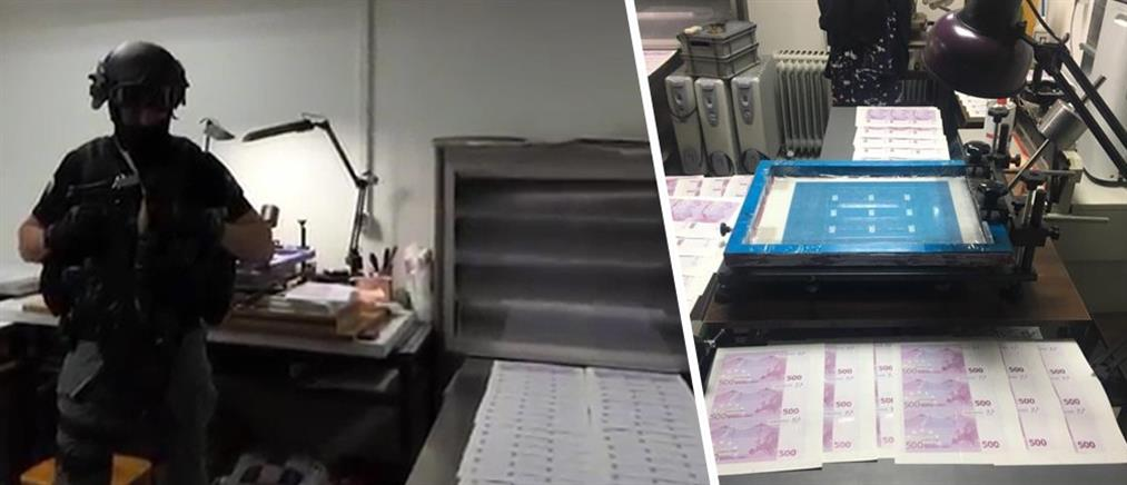 """""""Ξήλωσαν"""" το πιο σύγχρονο εργαστήριο πλαστών χαρτονομισμάτων στην Ευρώπη (βίντεο)"""