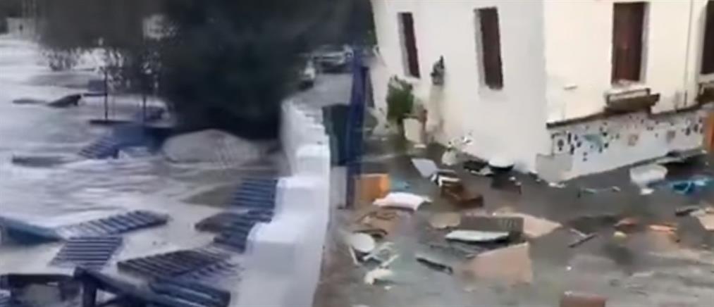 """Σεισμός στην Σάμο: η στιγμή που το τσουνάμι """"χτυπάει"""" την Σμύρνη (βίντεο)"""