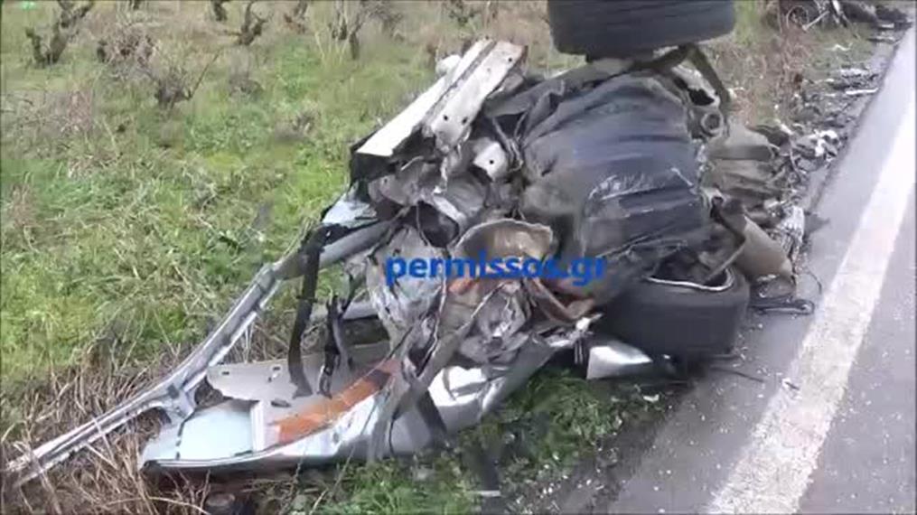 Σοκαριστικό τροχαίο δυστύχημα στη Στενή Αλιάρτου