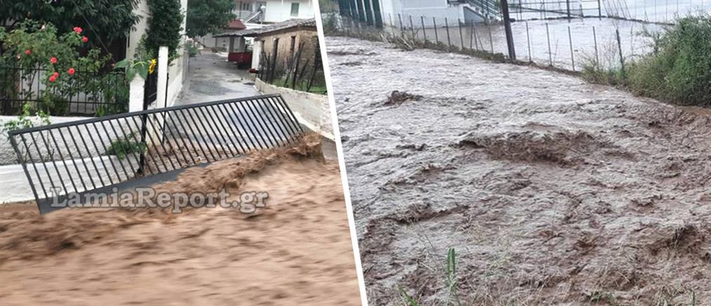 "Mπουρίνι ""έπνιξε"" την Λαμία – Πλημμύρες και καταστροφές (φωτό & βίντεο)"