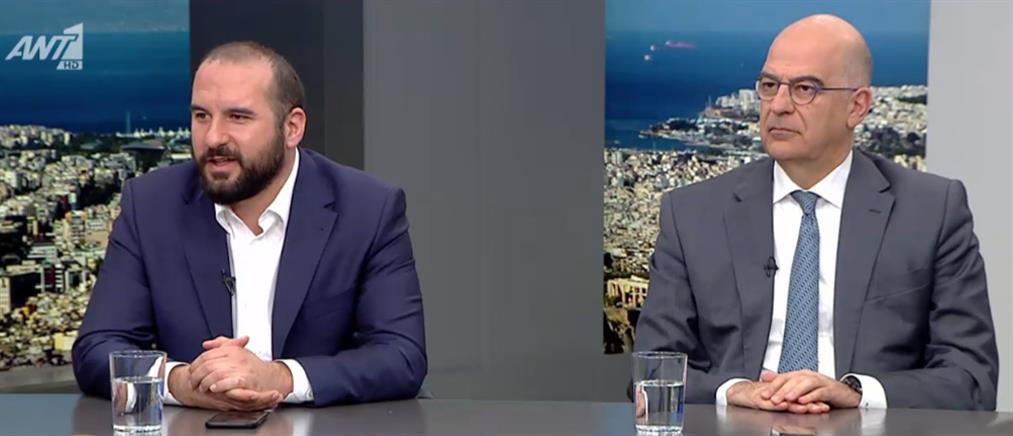 """Σε """"θέση μάχης"""" Τζανακόπουλος – Δένδιας στον ΑΝΤ1 (βίντεο)"""