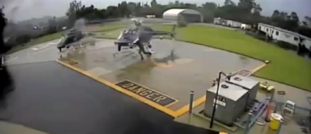 Συγκρούστηκαν ελικόπτερα της Αστυνομίας – Από τύχη δεν υπήρξαν θύματα (βίντεο)