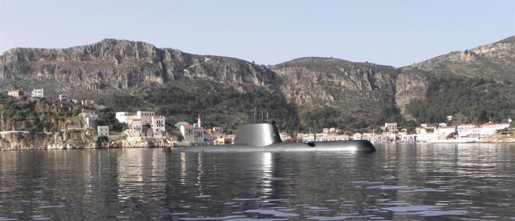 """Στο ακριτικό Καστελόριζο το υποβρύχιο """"Ματρώζος"""" (Φωτογραφίες)"""