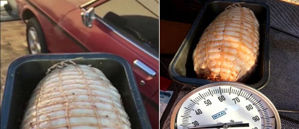 Βίντεο: έψησε χοιρινό στο αυτοκίνητό του με τον... καύσωνα!