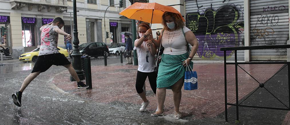 Καιρός – Αττική: καταιγίδες και χαλάζι ακόμη και στο κέντρο! (εικόνες)