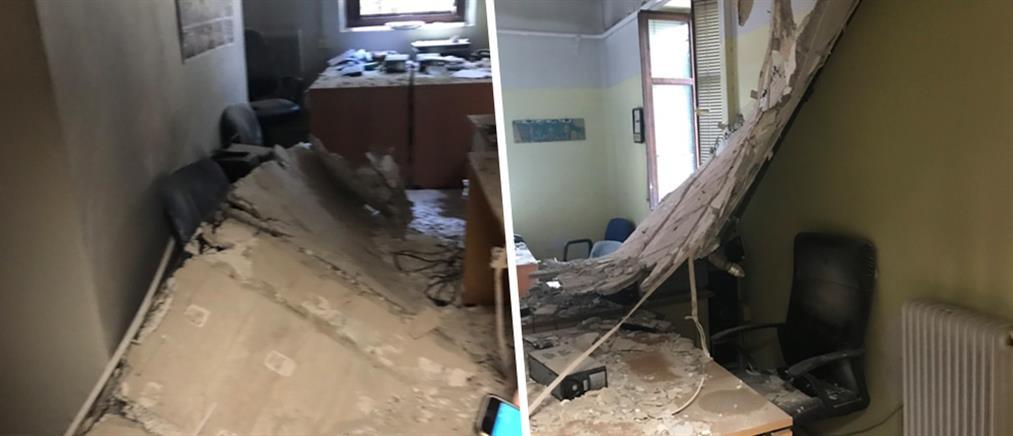 Ιπποκράτειο Νοσοκομείο Θεσσαλονίκης: το ταβάνι έπεσε πάνω στα γραφεία των εργαζομένων!