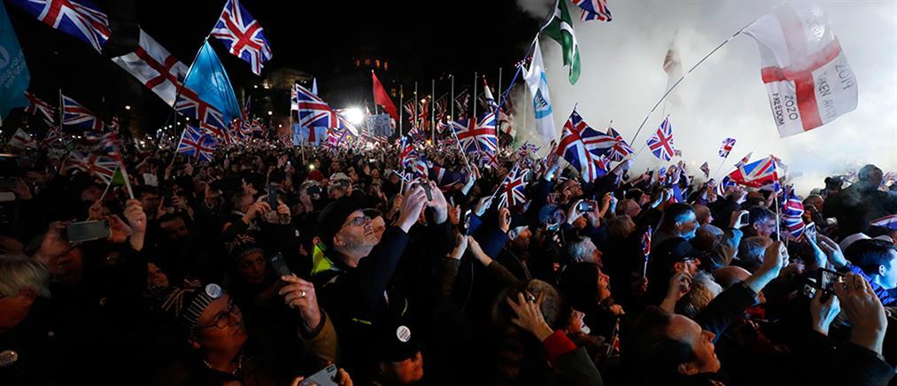 Brexit με σαμπάνιες, πανηγυρισμούς και προβληματισμούς (εικόνες)