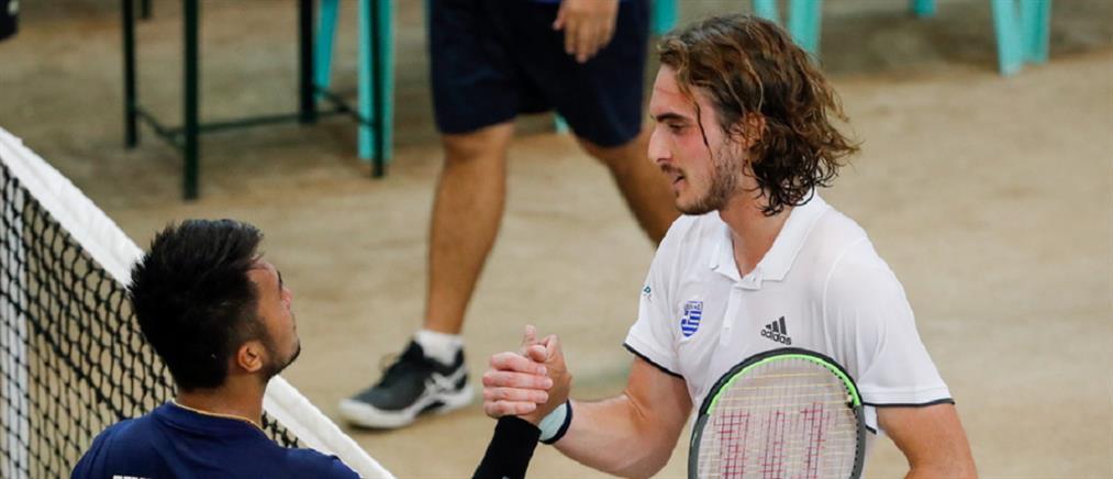 Davis Cup: η εθνική προκρίθηκε στο World Group II με νίκη του Τσιτσιπά