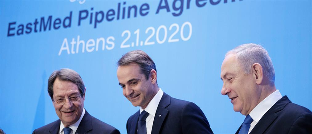 EastMed: Μηνύματα συνεργασίας και ασφάλειας στην Μεσόγειο από τους τρεις ηγέτες