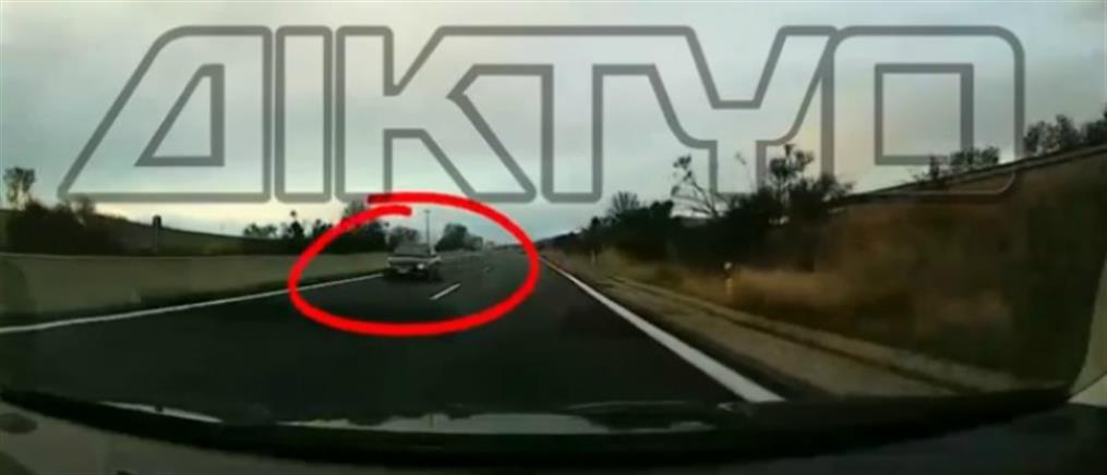 Σέρρες: Αυτοκίνητο στο αντίθετο ρεύμα κυκλοφορίας στον κάθετο άξονα της Εγνατίας Οδού (βίντεο)