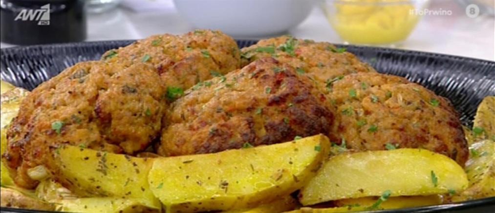 Μπιφτέκια κοτόπουλου από τον Πέτρο Συρίγο