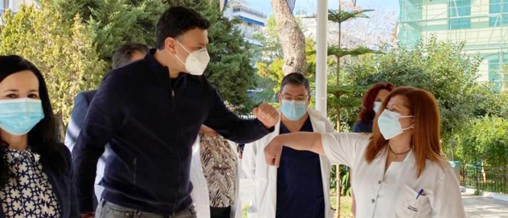 Επίσκεψη Κικίλια στην εφημερία του Τζάνειου Νοσοκομείου (εικόνες)