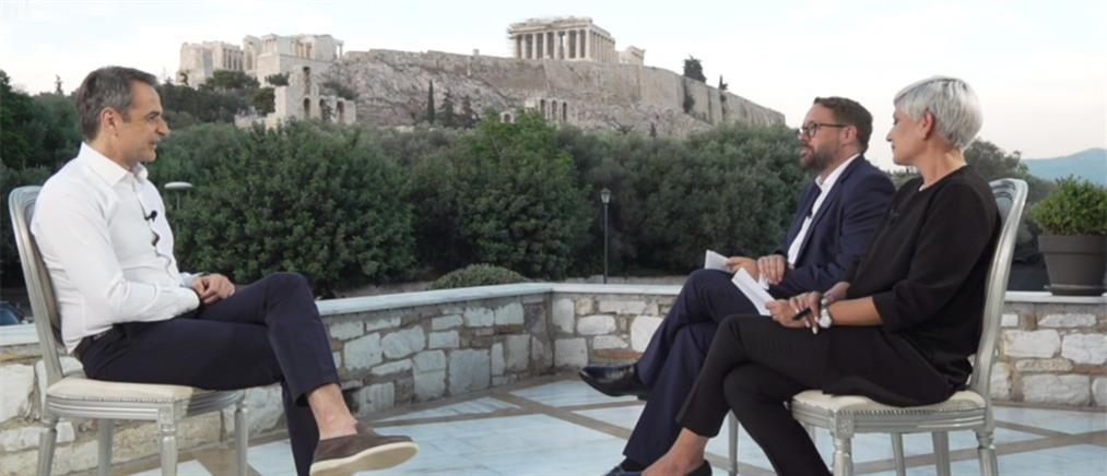 Μητσοτάκης στην Bild: Στην Ελλάδα φέτος θα έχουμε διπλάσιους τουρίστες από το 2020