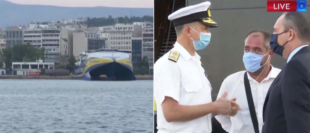 Κορονοϊός: Επιθεώρηση στο λιμάνι του Πειραιά έκανε ο Πλακιωτάκης (βίντεο)