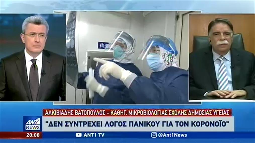 Βατόπουλος στον ΑΝΤ1: ο κορονοϊός σε ποσοστό 99% είναι μια απλή γρίπη