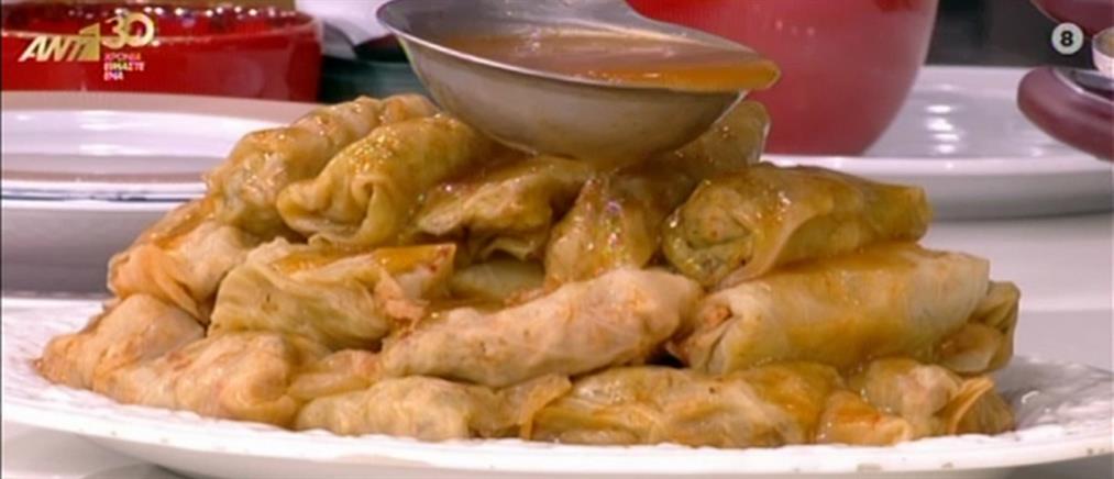 Λαχανονταλμάδες με κιμά κοτόπουλου από τον Βασίλη Καλλίδη