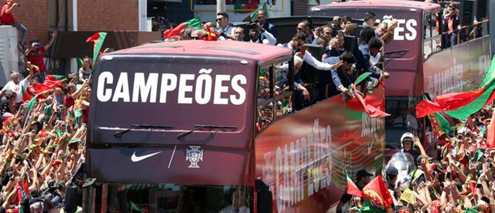 Υποδοχή ηρώων για τους Πρωταθλητές Ευρώπης στην Πορτογαλία (Βίντεο)