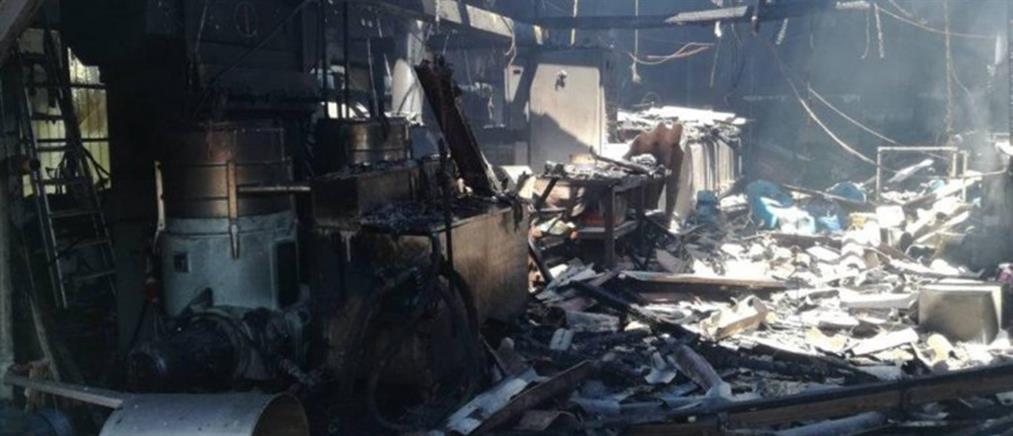 Καταστροφική πυρκαγιά σε ελαιουργείο (εικόνες)