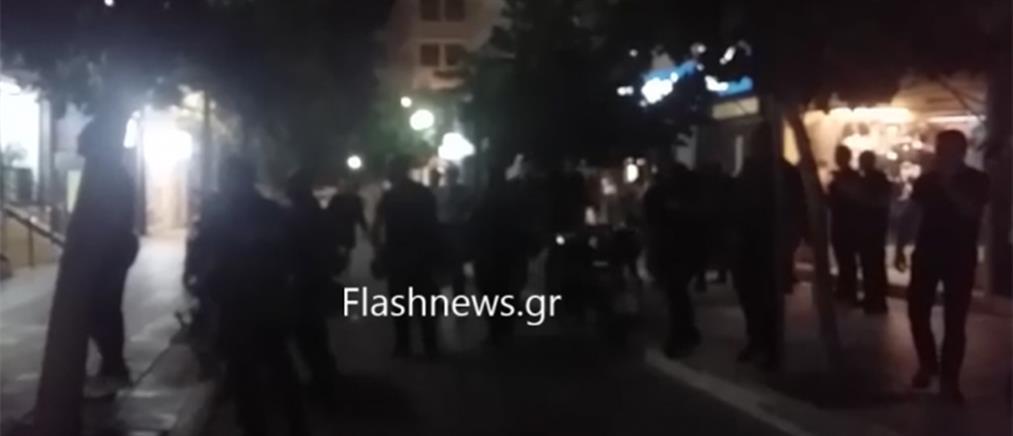 Ένταση έξω από τα γραφεία των ΑΝΕΛ στα Χανιά (βίντεο)