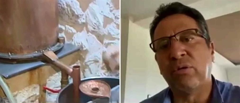 """Βρέντζος στον ΑΝΤ1: Περιμένουμε το """"πράσινο φως"""" για να μπει η τσικουδιά στην... μάχη με τον κορονοϊό (βίντεο)"""