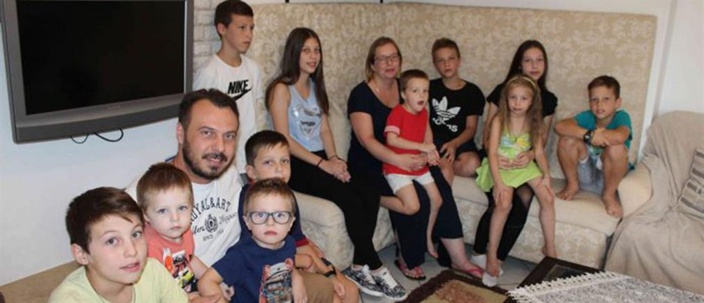 Οικογένεια με 13 παιδιά περιμένει το 14ο