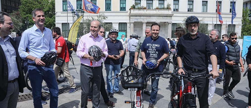 Χατζηδάκης: Προχωρούν οι δύο μεγάλοι ποδηλατοδρόμοι στην Αθήνα (εικόνες)