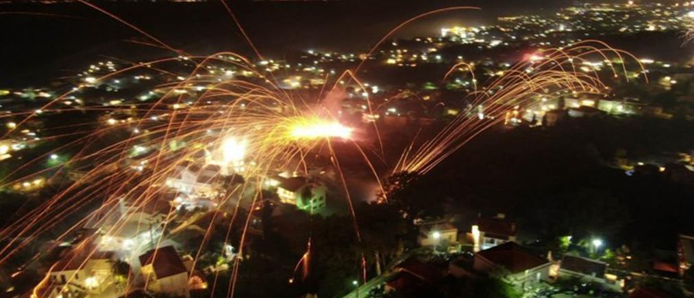 Χίος: εντυπωσιακός και φέτος ο ρουκετοπόλεμος! (εικόνες)