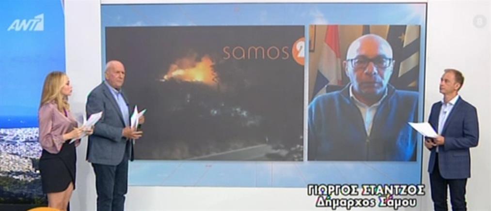Ύποπτες φωτιές σε Σάμο και Αλεξανδρούπολη (βίντεο)