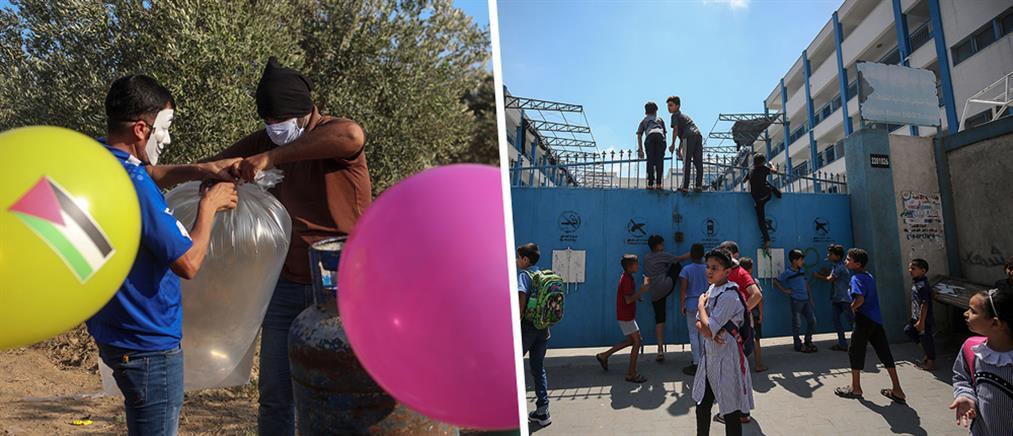 Βομβαρδισμοί στη Γάζα σε αντίποινα για τα εμπρηστικά μπαλόνια (εικόνες)