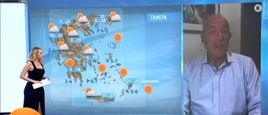 Καιρός - Αρνιακός: Έρχονται βροχές και καταιγίδες (βίντεο)