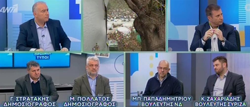 """Παπαδημητρίου – Ζαχαριάδης διασταυρώνουν τα """"ξίφη"""" τους στον ΑΝΤ1 (βίντεο)"""