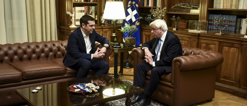 Στον Παυλόπουλο ο Αλέξης Τσίπρας για διάλυση της Βουλής και προκήρυξη εκλογών