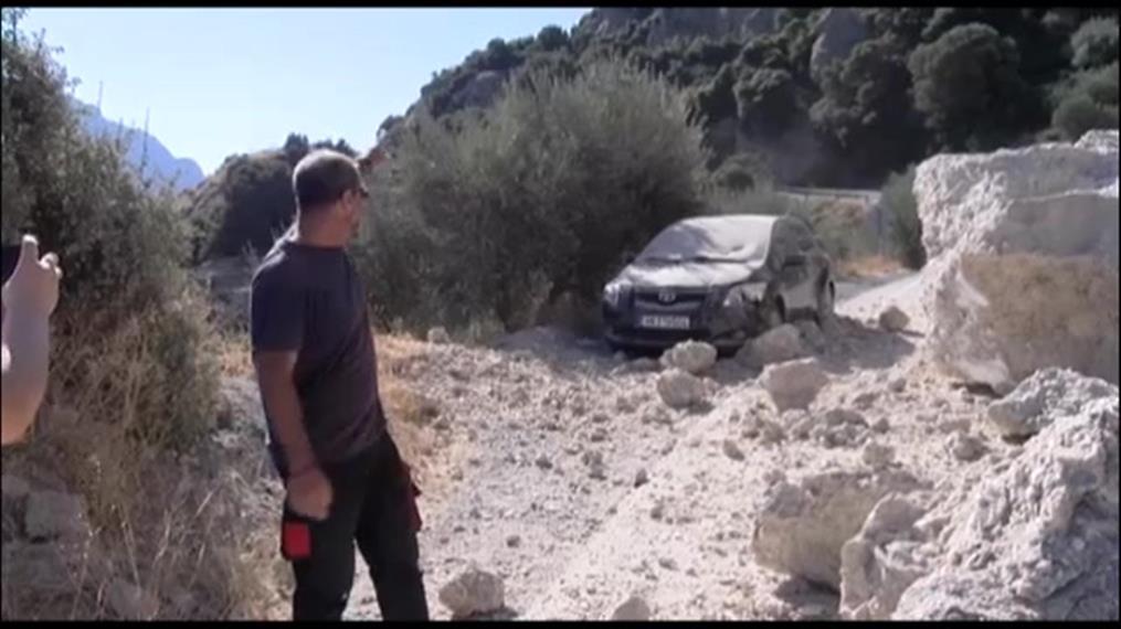 Κατολισθήσεις προκάλεσε ο ισχυρός σεισμός στην Κρήτη
