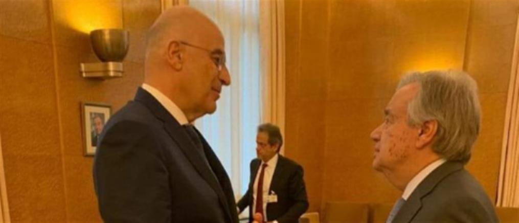 Δένδιας σε Γκουτέρες: ανύπαρκτες οι συμφωνίες Τουρκίας - Λιβύης