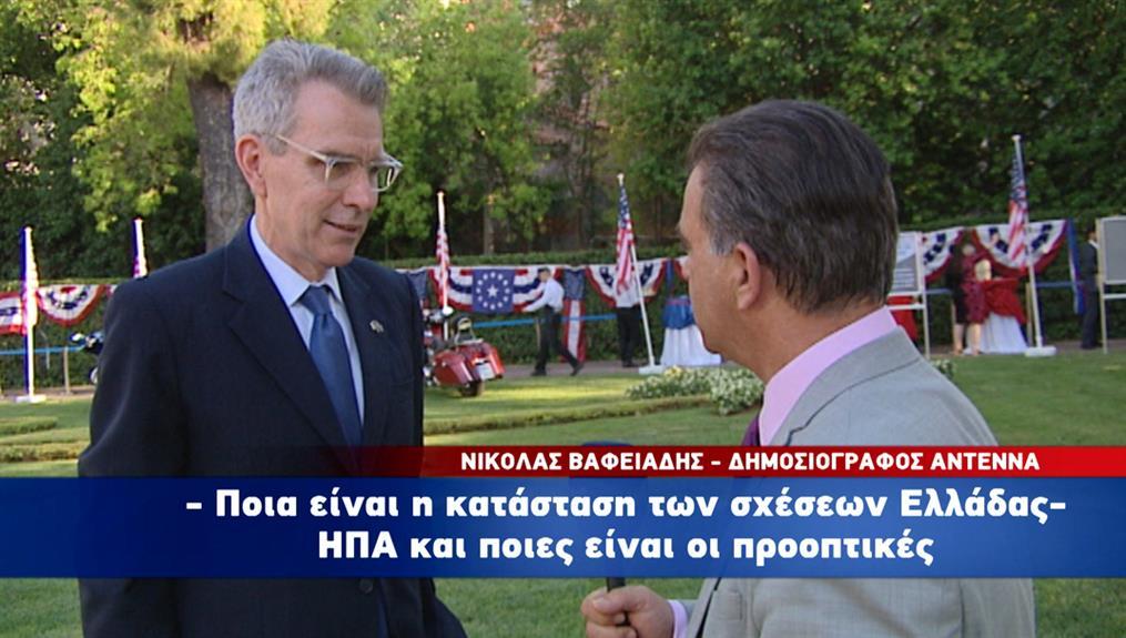 Ο Τζέφρι Πάιατ στον ΑΝΤ1/Ant1news.gr με μηνύματα για την ένταση με την Τουρκία και τις ελληνοαμερικανικές σχέσεις