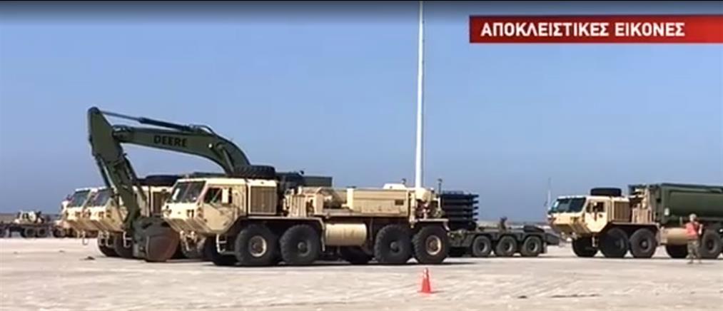 """Αποκλειστικές εικόνες από την """"απόβαση"""" οχημάτων του αμερικανικού στρατού στην Αλεξανδρούπολη (βίντεο)"""