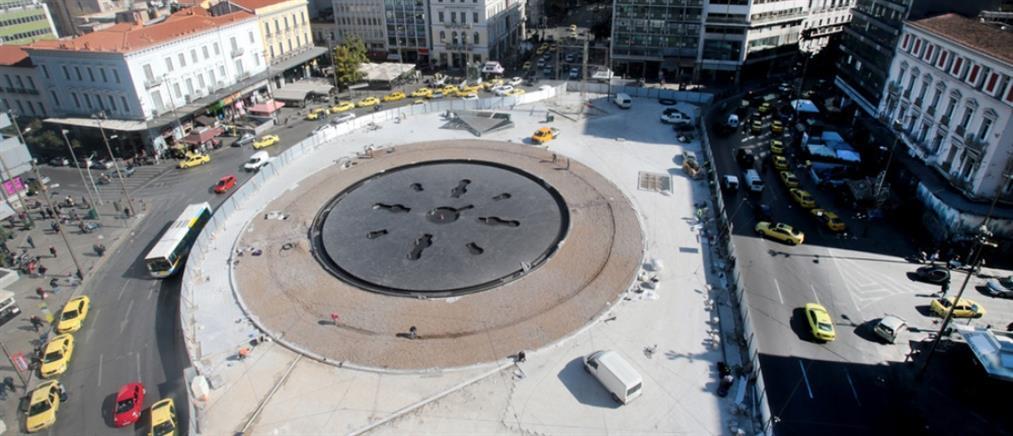 """Ομόνοια: αυτό είναι το σιντριβάνι – """"τροχάδην"""" οι εργασίες στην Πλατεία (εικόνες)"""
