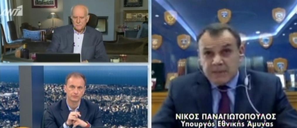 Παναγιωτόπουλος στον ΑΝΤ1: να μην μπει ο Στρατός στο κάδρο για την επιτήρηση της απαγόρευσης κυκλοφορίας