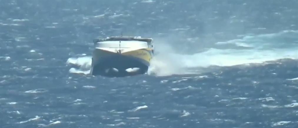 Συγκλονιστική η μάχη του Super Express με τα κύματα (βίντεο)