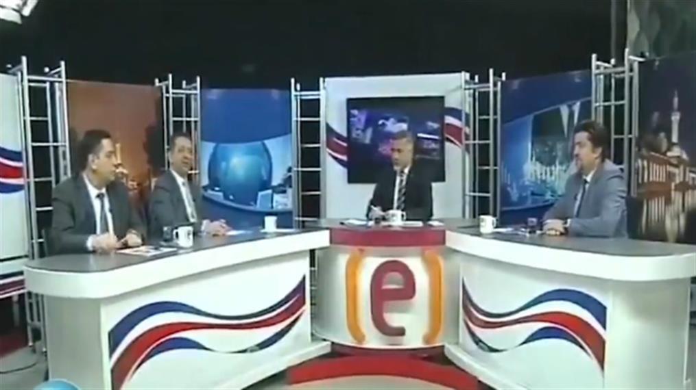 Τουρκία: Η στιγμή του σεισμού σε στούντιο τηλεοπτικού σταθμού