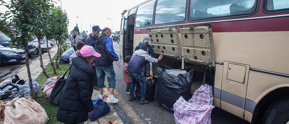 Εκκενώθηκαν οι άτυποι καταυλισμοί προσφύγων κοντά στην Ειδομένη
