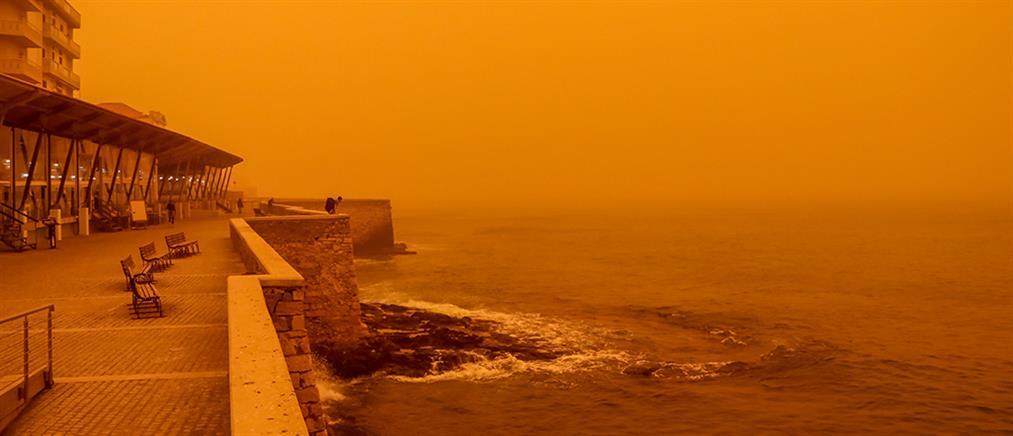 """Θα """"πνιγεί"""" ξανά στη σκόνη η Κρήτη – Συστάσεις για τις ευπαθείς ομάδες"""