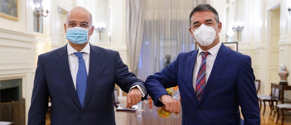 """Δένδιας - Ντιμιτρόφ: Να εφαρμοστεί """"με καλή πίστη"""" η Συμφωνία των Πρεσπών"""