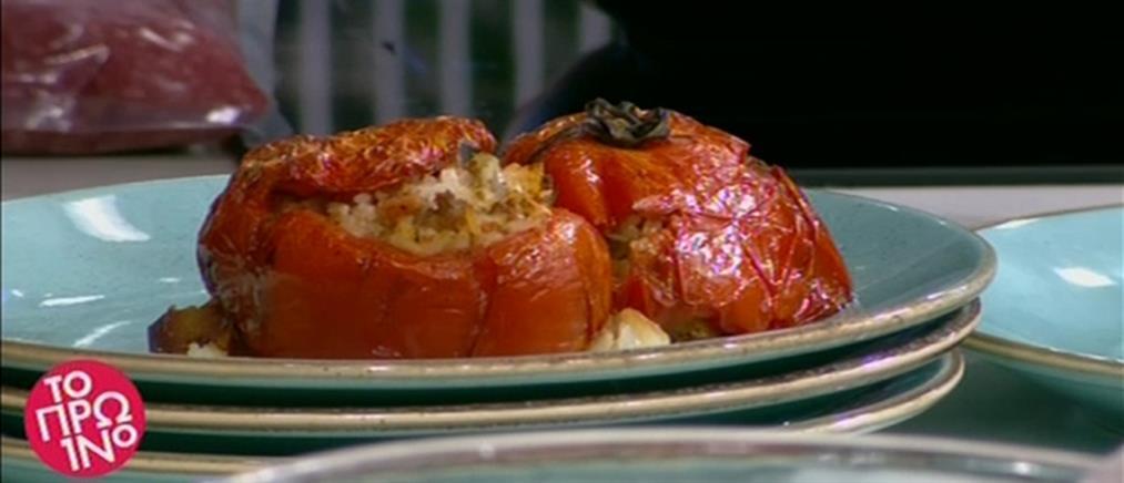 Ντομάτες γεμιστές με κιμά από τον Βασίλη Καλλίδη