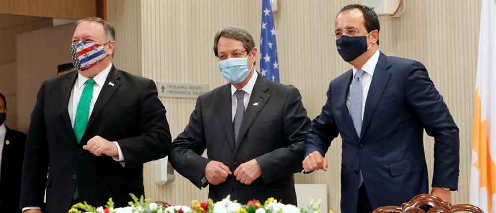 Πομπέο από Κύπρο: ανησυχούμε για τις έκνομες ενέργειες της Τουρκίας